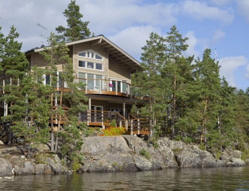 Casa de madera Rinne. Kuusamo.